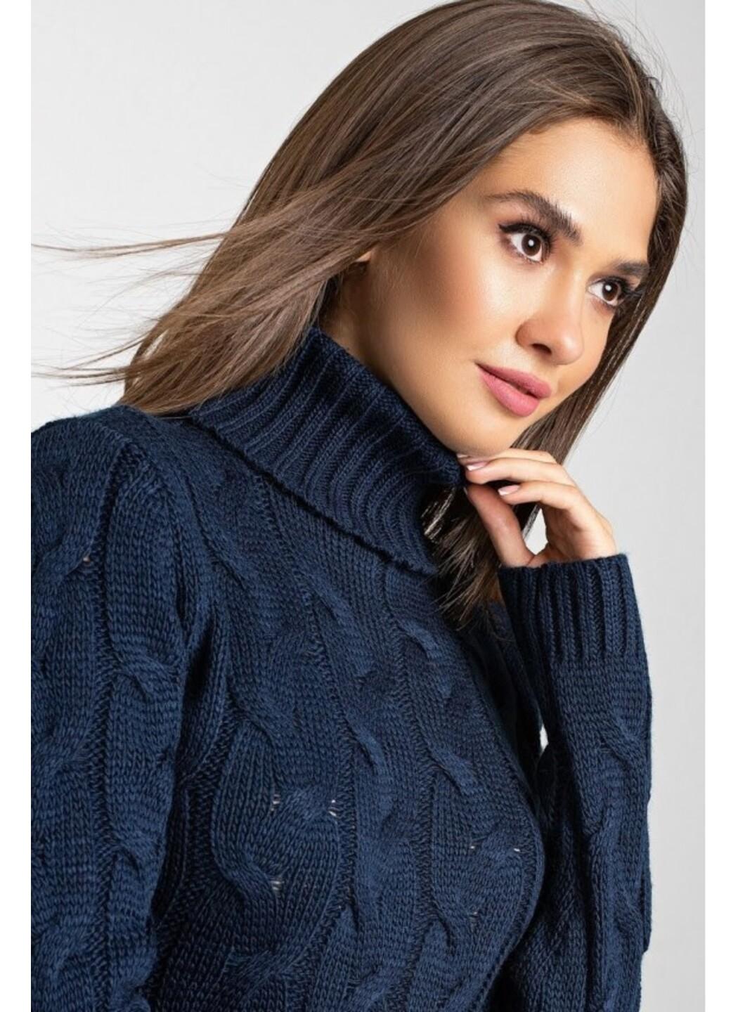 Женское Вязаное платье Сабрина Темно-синий купить в Украине: фото, цена, характеристики, отзывы - фото 3