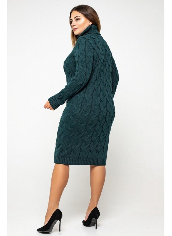 Женское Вязаное платье Сабрина Зеленый Size+ купить в Украине: фото, цена, характеристики, отзывы - фото 3