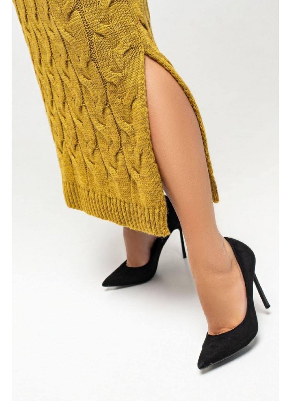 Женское Вязаное платье Ангелина Горчица Size+ купить в Украине: фото, цена, характеристики, отзывы - фото 4