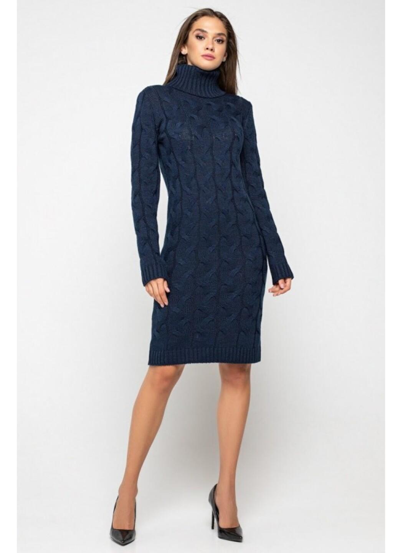 Женское Вязаное платье Сабрина Темно-синий купить в Украине: фото, цена, характеристики, отзывы - фото 2