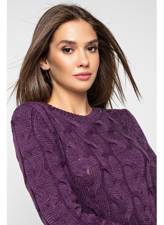 Женское Вязаное Платье Каролина Баклажан